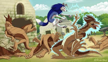 Tiger vs Shell Saurian - Comm - v2