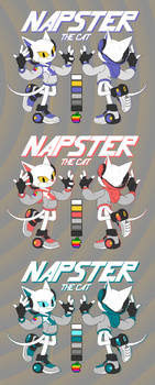 Napster the Cat - Mac colors