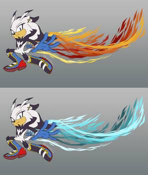 Phoenix the Kusimanse + Fire