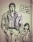 Kazuma and Hakura sketch