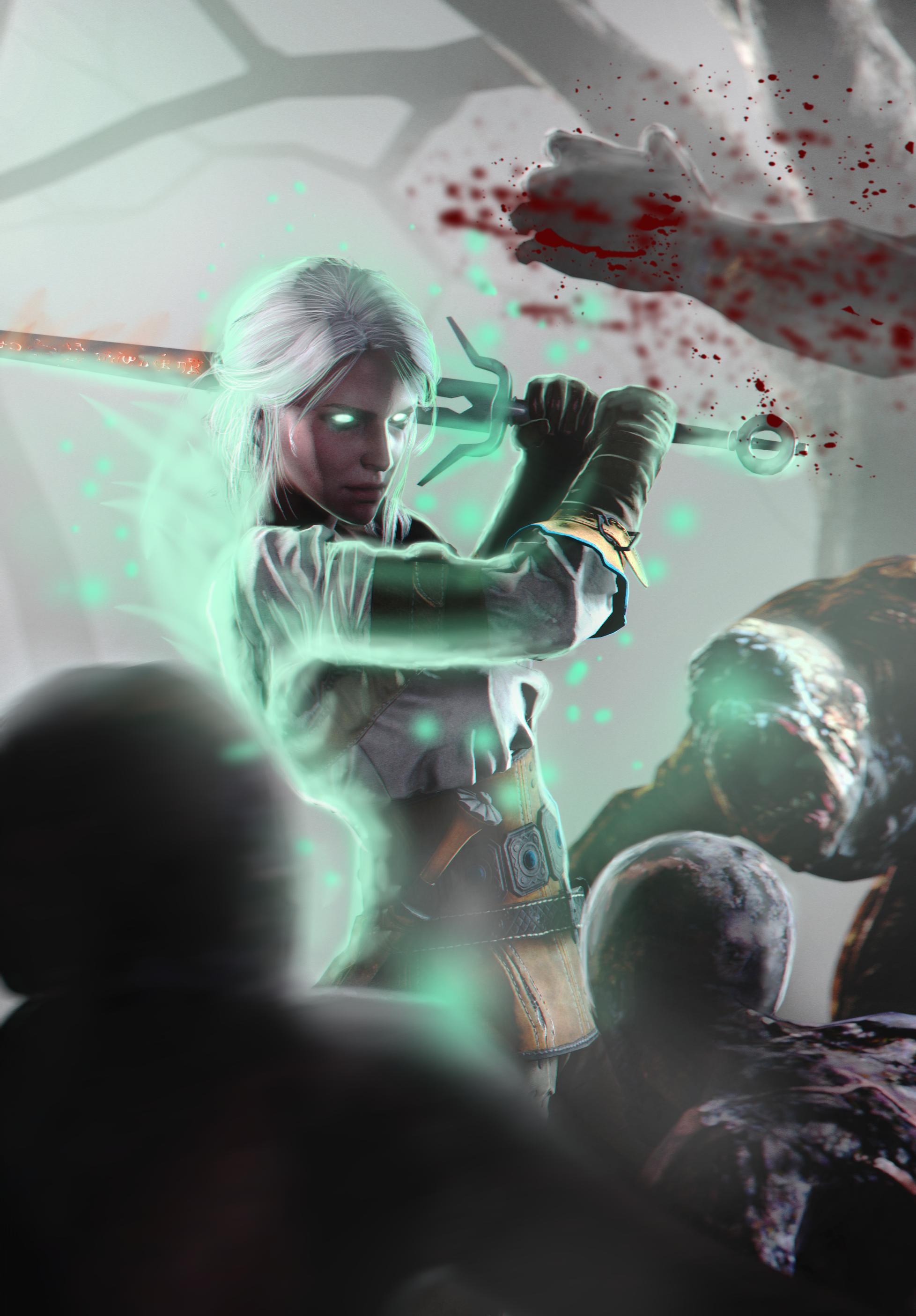 Geralt gwent card ciri remake by ingyuarts on deviantart - Ciri gwent card witcher 3 ...
