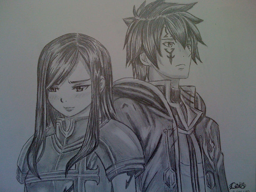 Erza scarlet and jellal drawing