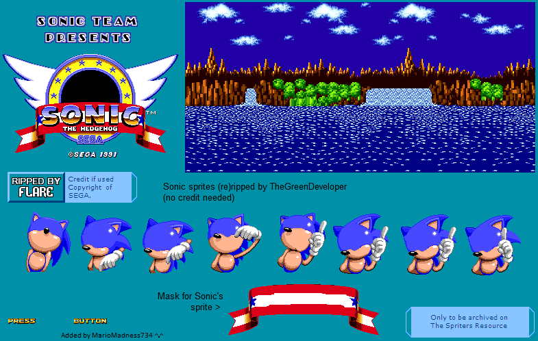 Sonic 1 Title Screen Template By Willybits On Deviantart