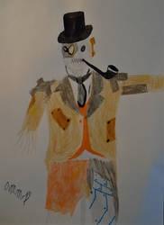 Drawtober: Steampunk Scarecrow