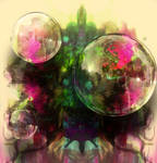 Abstract art bubbles