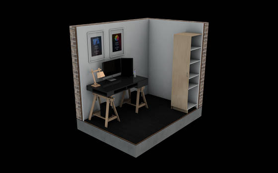A 3D model of my workspace :)