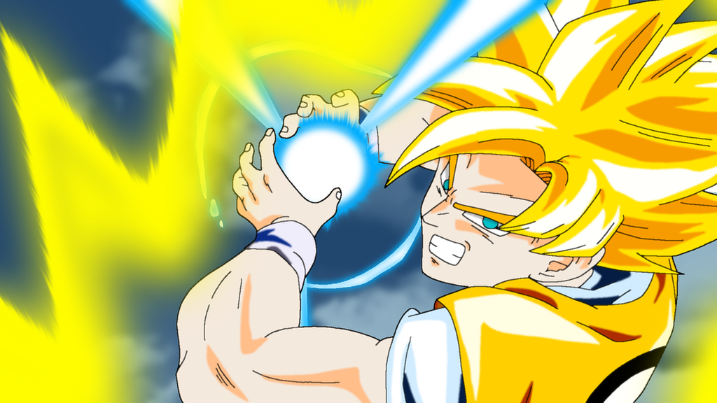 Super Saiyan Goku Kamehameha by InsanityAsh on DeviantArt