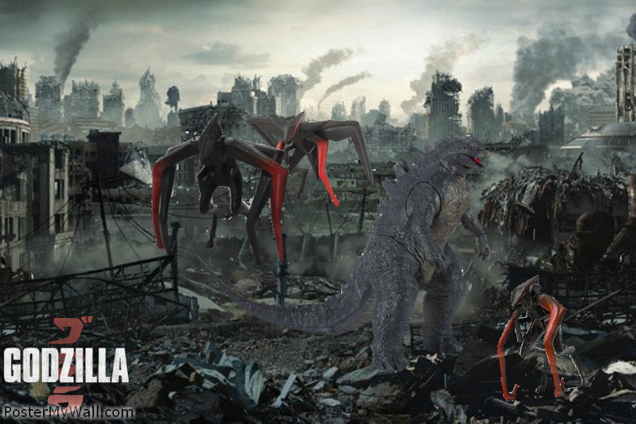 Godzilla vs The M.U.T.O's 2 by SuperGodzilla on DeviantArt