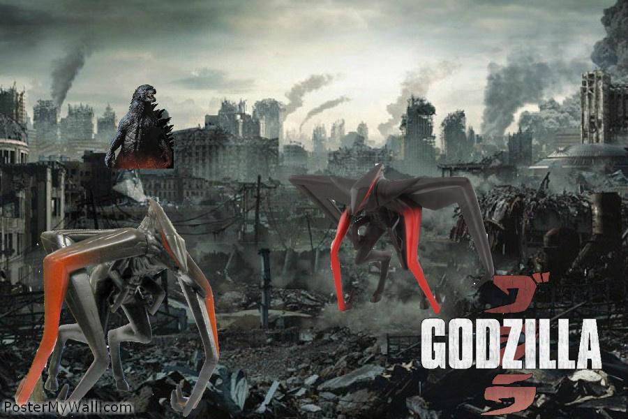Godzilla vs The M.U.T.O's by SuperGodzilla on DeviantArt