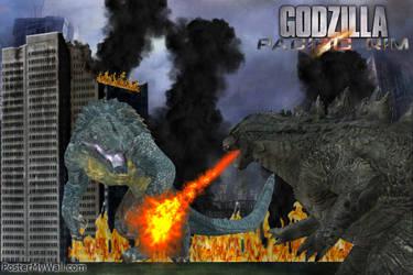 Godzilla vs Raiju by SuperGodzilla