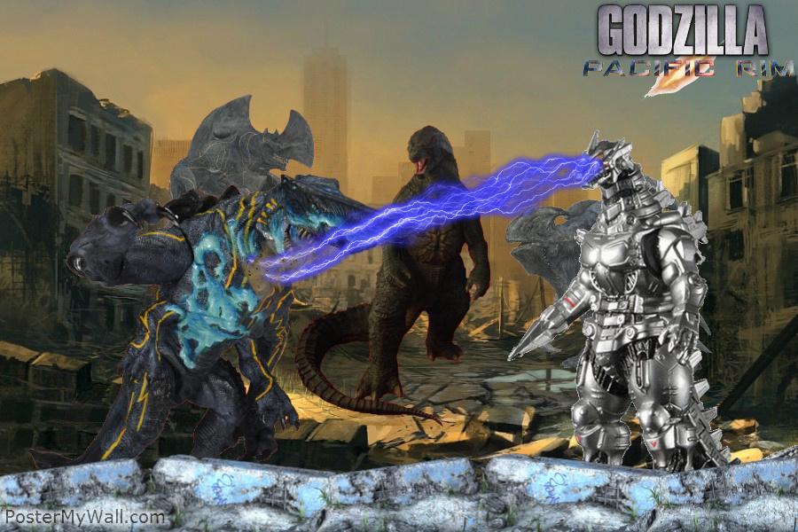 Godzilla Kiryu vs Knifehead, Trespasser, Mutav by ...