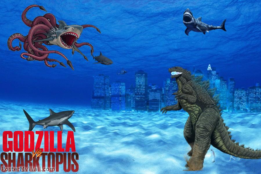 Godzilla vs Sharktopus by SuperGodzilla on DeviantArt