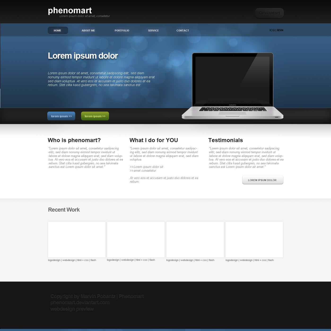 simple webdesign blue version by phenomart on deviantart