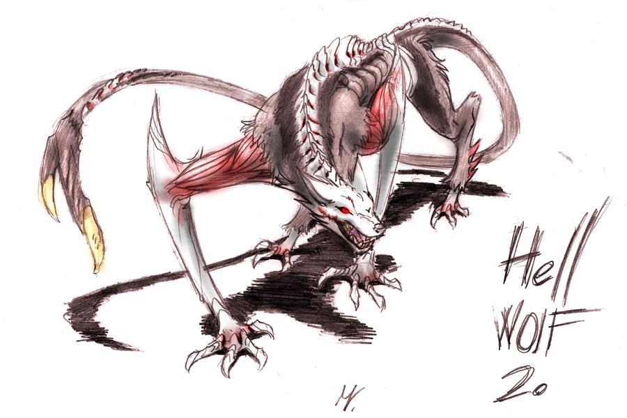 hell wolf by vampireassassin1444 - photo #8