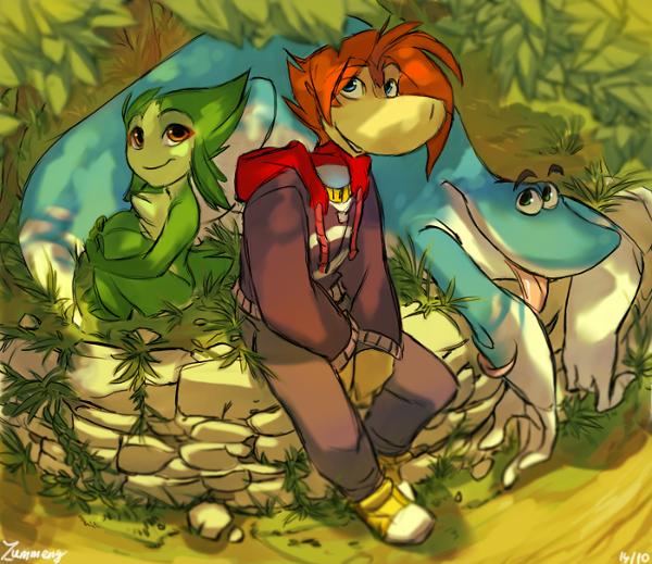 Rayman, Globox, Chili - group shot by Zummeng