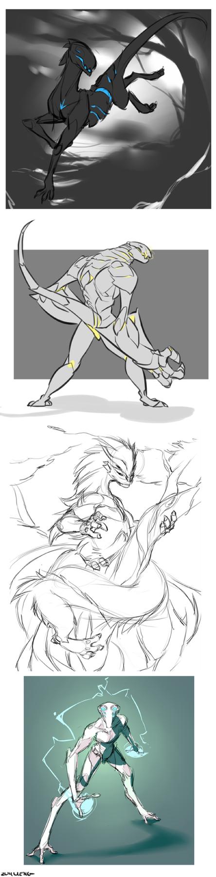 Random sketches by Zummeng