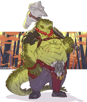 Croc with Hammer