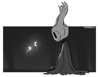 Silence - Hollow Knight Fanart by Zummeng