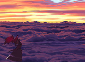 Observing Purple Clouds by Zummeng