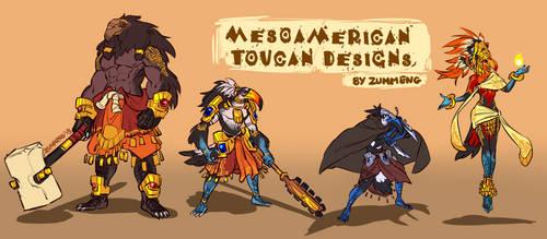 Mesoamerican Toucan Designs by Zummeng