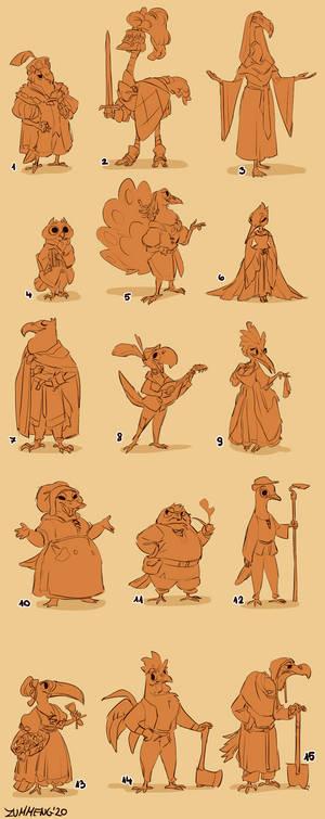 Bird-folk Sketches