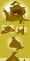 Snail Creature Doodles
