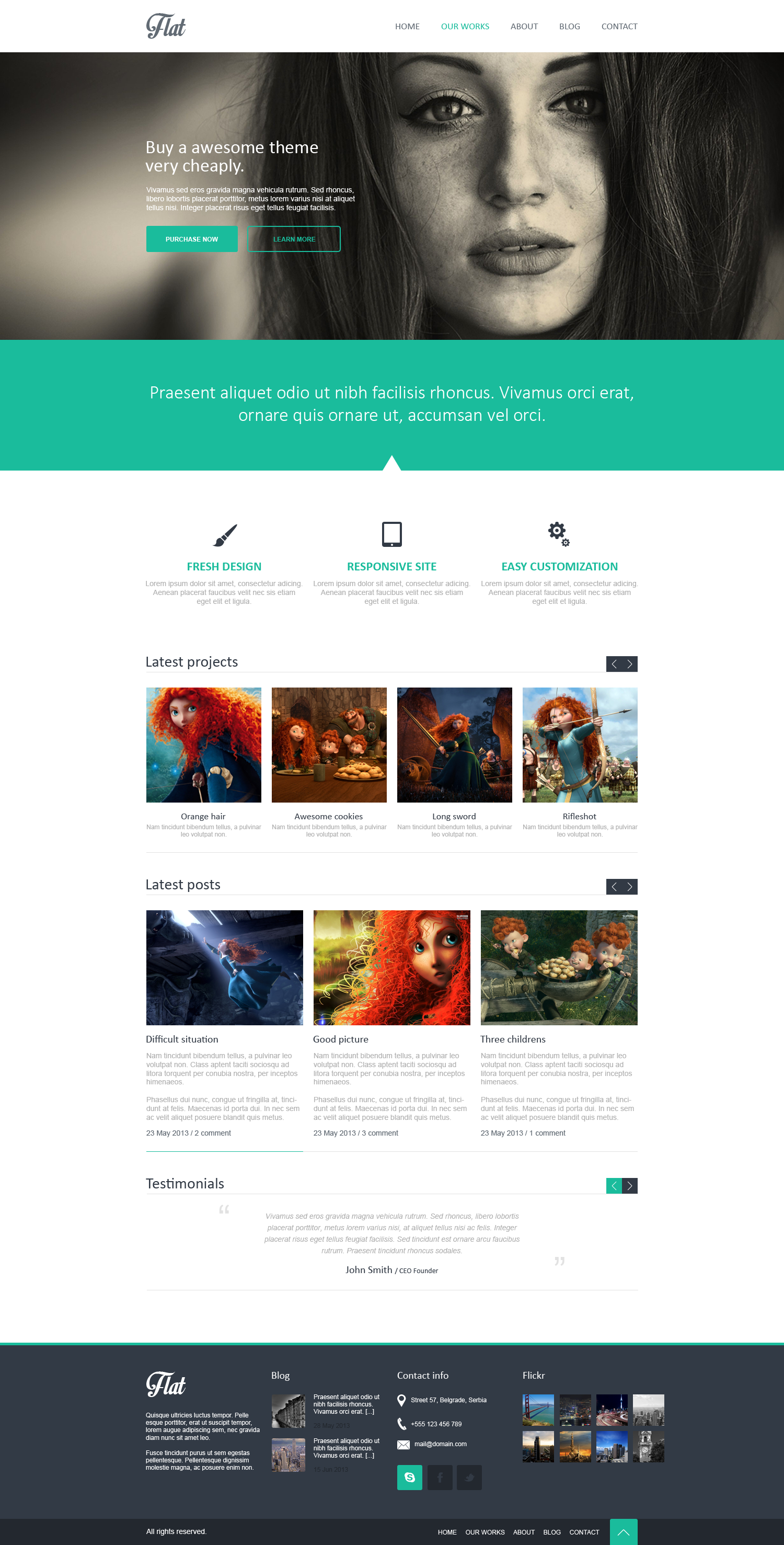 FLAT Portfolio homepage by multicreative