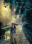 Rainy walk together