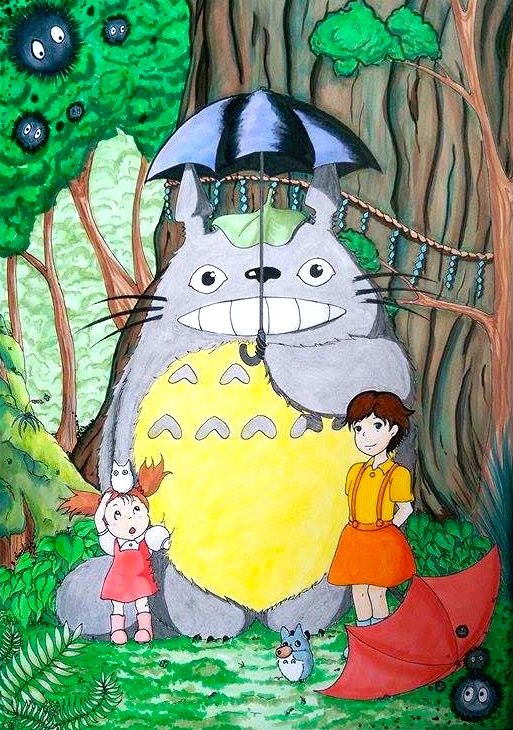Totoro And Friends by TravelingArtist93