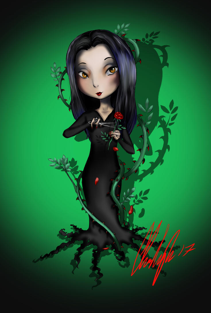 Morticia Chibi by TravelingArtist93