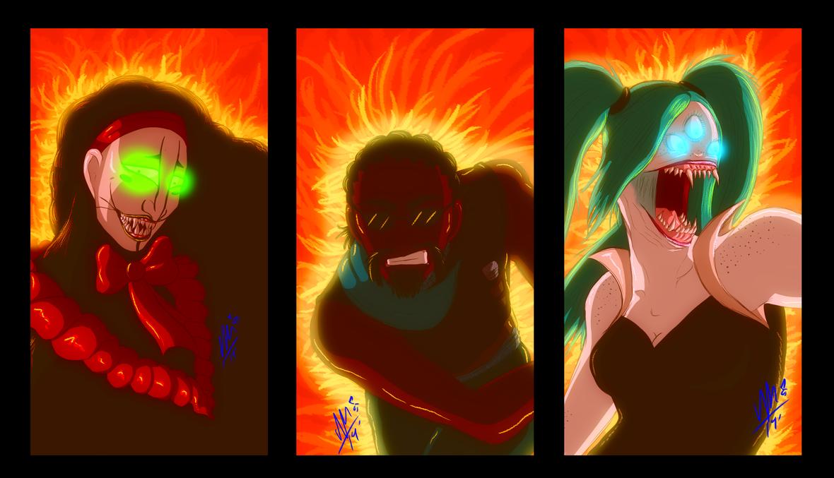 Trio's Fire by Umwak