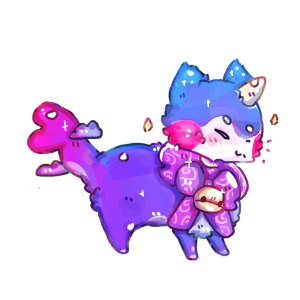 [Gift] Moon Gummy Cat by awesqmecat