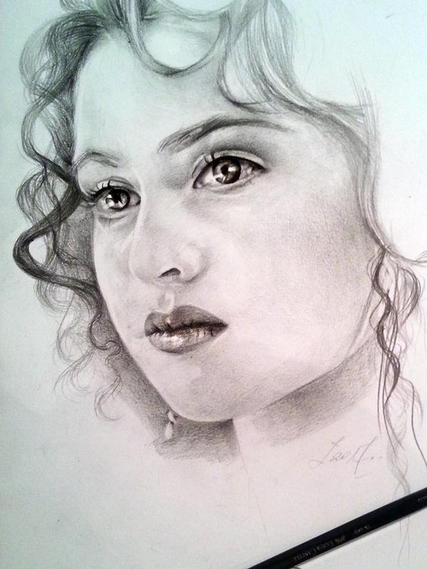 The beginning portrait pencilsketch by yohannakim