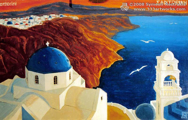 Santorini by 333artworks