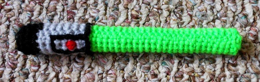 Crocheted Lightsaber by JenniferElluin