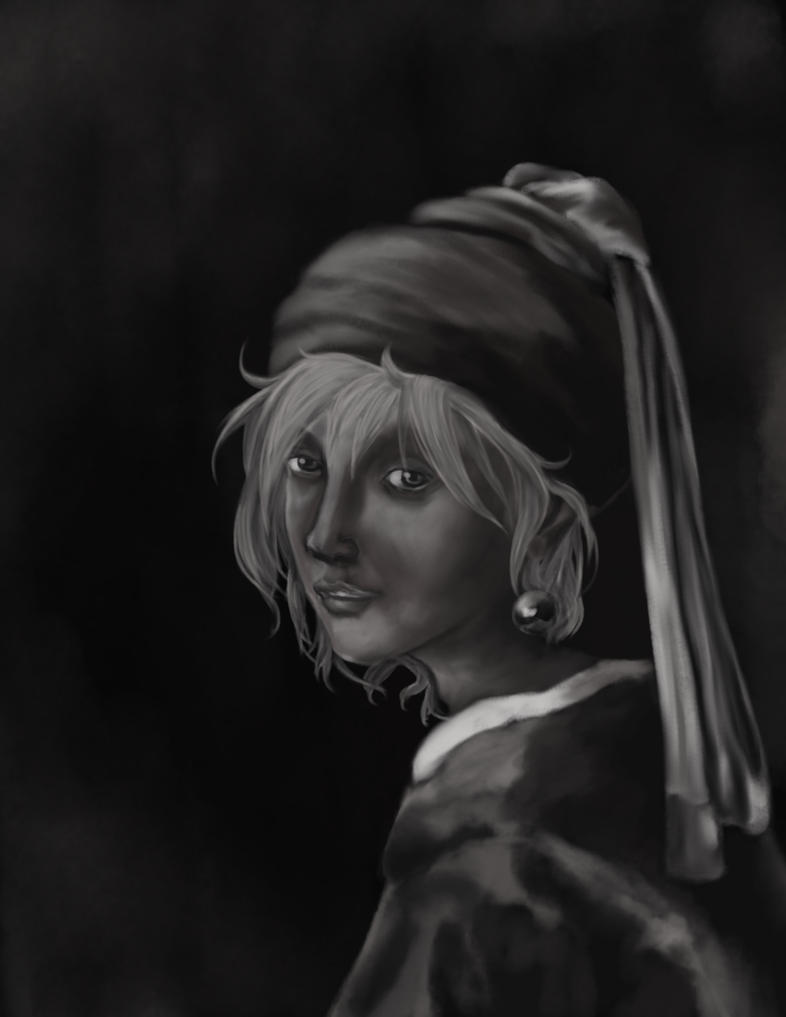 Fai with a Pearl Earring WIP by JenniferElluin