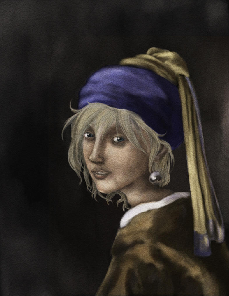 Fai with a Pearl Earring by JenniferElluin