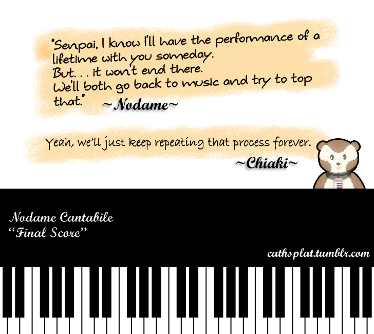 Nodame Cantabile : Final Quote By LightningCatH On DeviantArt