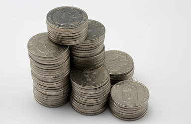 Stacked Silver Coins by thesmallwonder