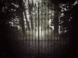 a gate on the music