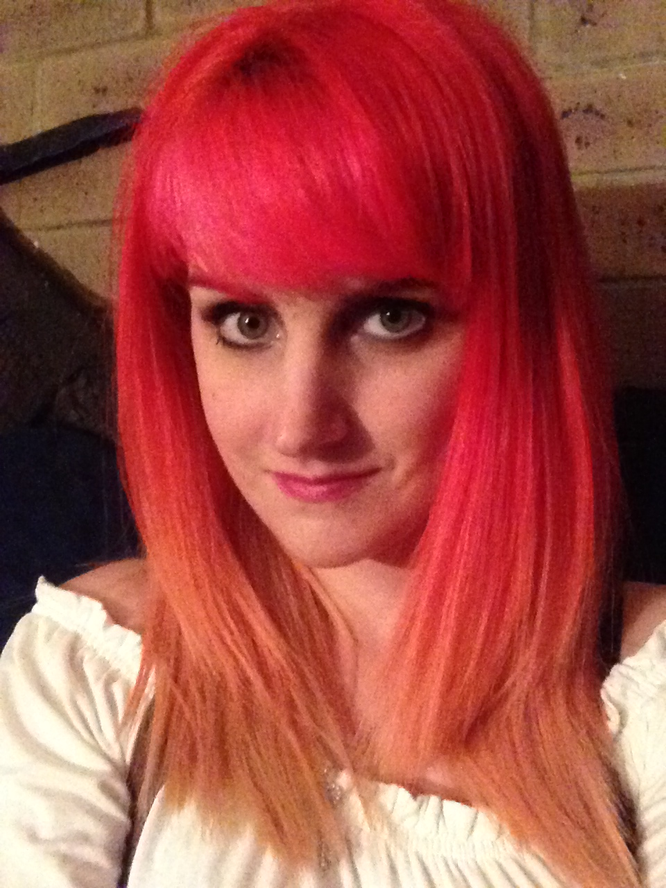 Pink, Red, Orange and Yellow Gradient Hair by becatron