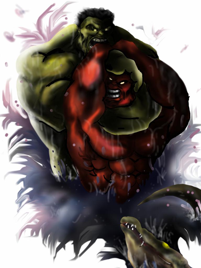 Red Hulk vs Green Hulk