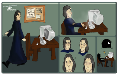 How Snape found DeviantART by Crocky-Wock