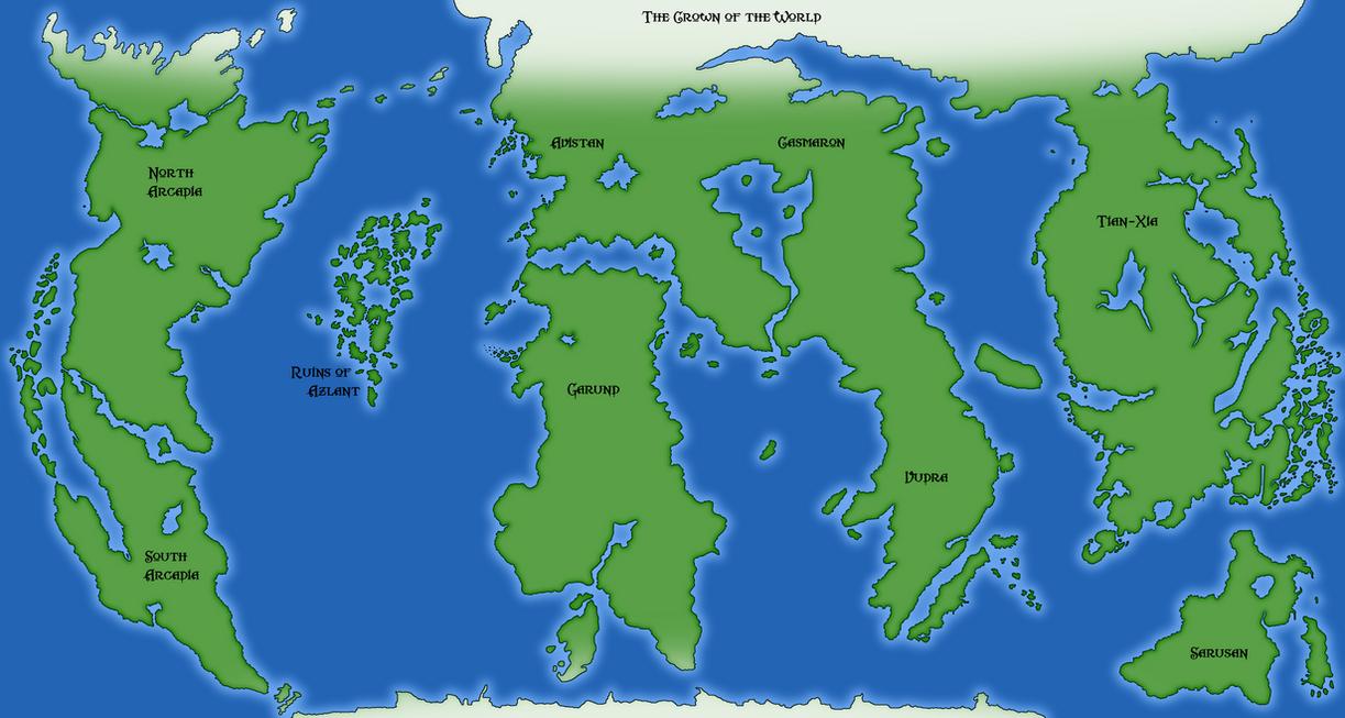 Golarion World Map By Skrittiblak ...