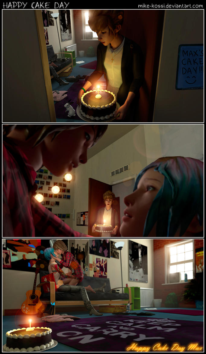 Happy Cake Day Max - Life is Strange comic by Mike-Kossi