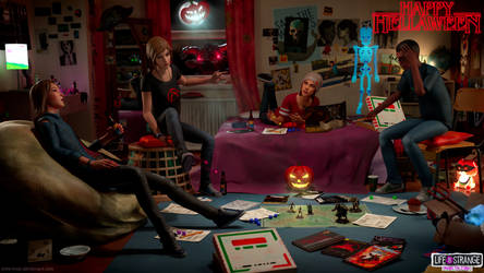 Bts - Hellaween game night by Mike-Kossi