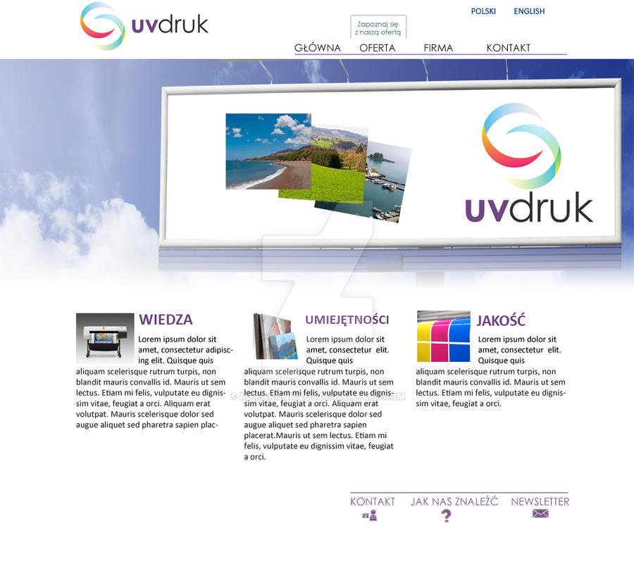 uv-druk site design