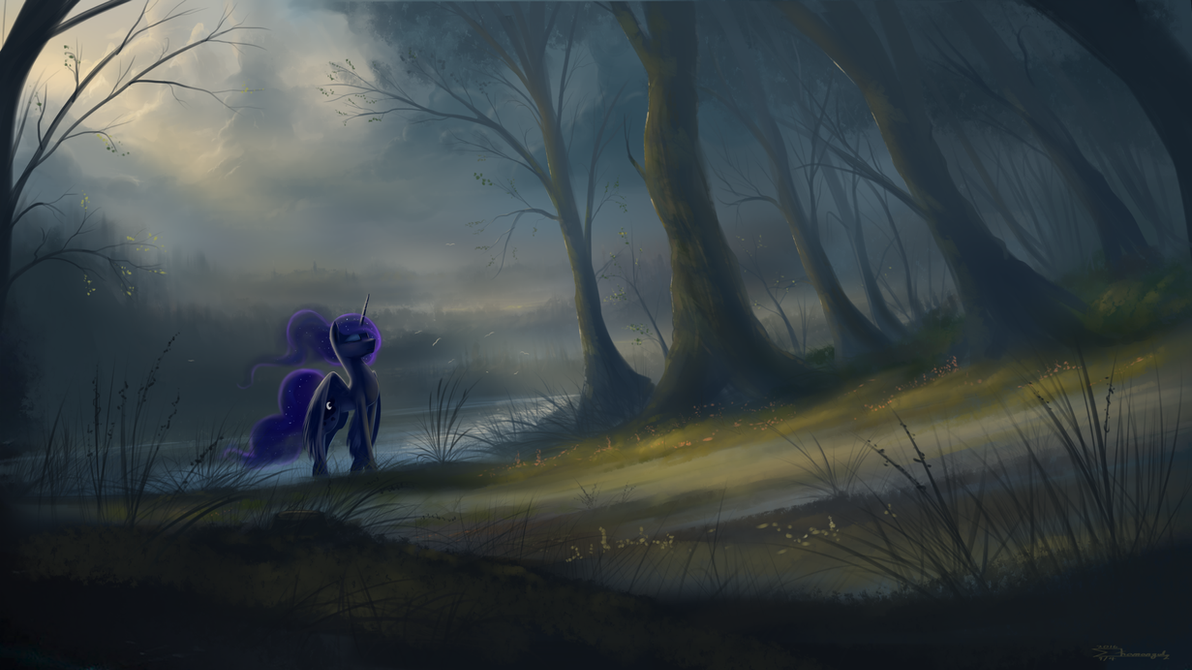 Pony art of the non diabetic variety.  - Page 26 Humming_the_lights_by_shamanguli-d9yfhx4