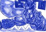 Blue Bee Woman
