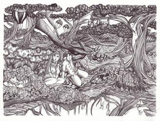 The Wondrous Grove I by simoneines
